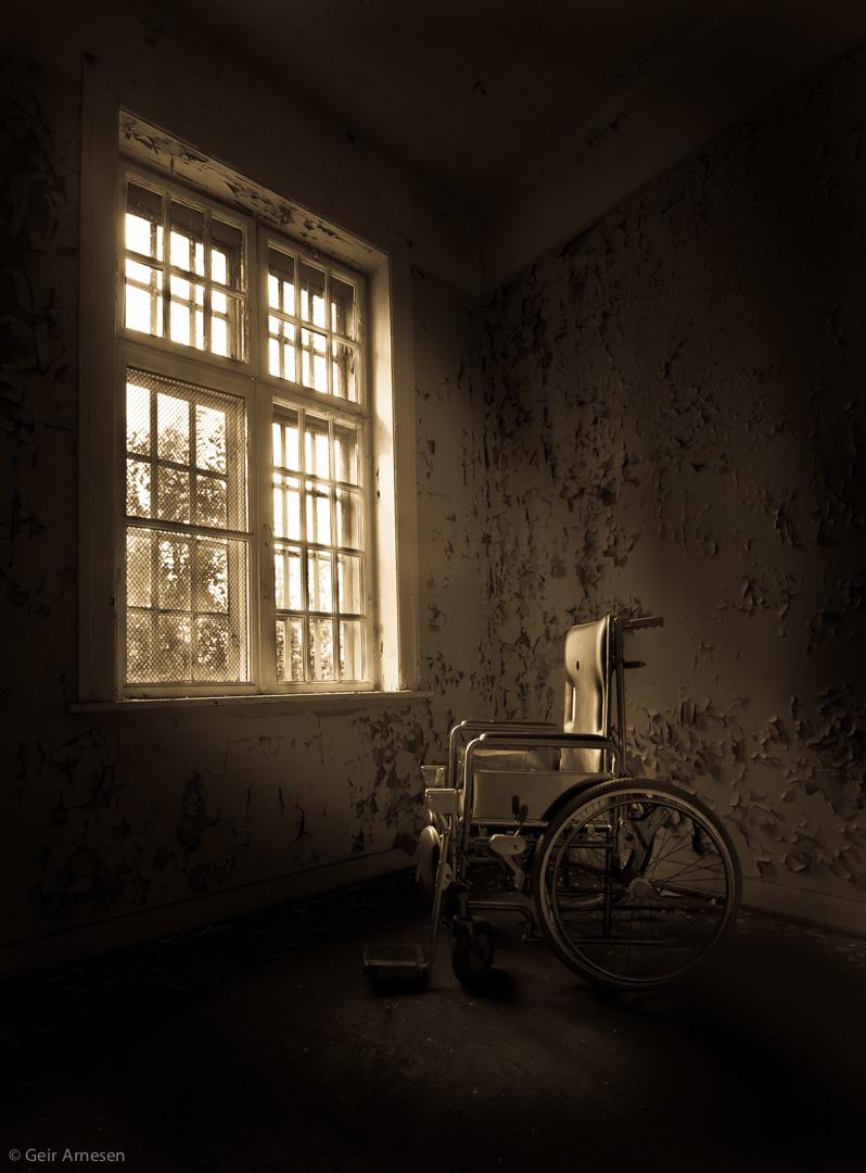 Wheelchar in psyciatric hospital